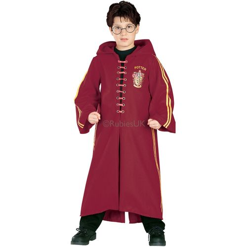 Childs Deluxe Harry Potter Quidditch Robe Fancy Dress Costume Age 3-4years