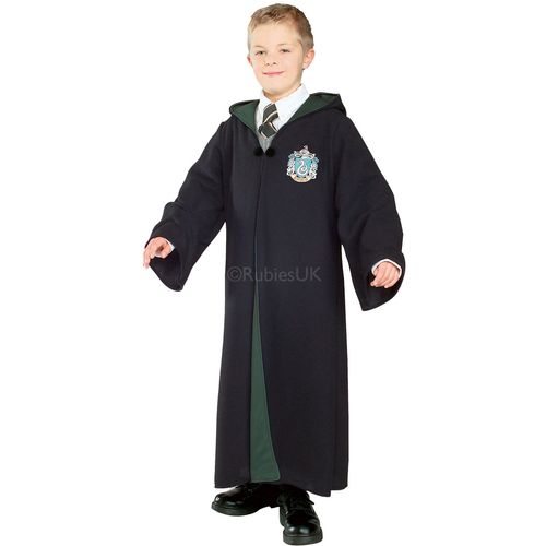 Childs Deluxe Malfoy Slytherin Robe Harry Potter Fancy Dress Costume  Age 3-4 Years