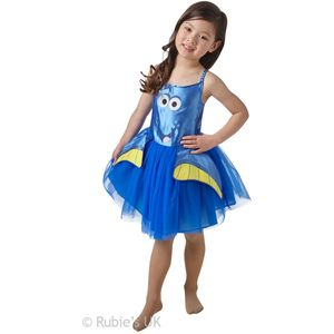 Childs Dory Tutu Costume (Finding Dory) Age 5-6 Years