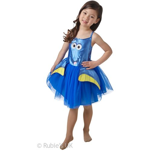 Childs Dory Tutu Fancy Dress Costume Finding Dory  Age 5-6 Years