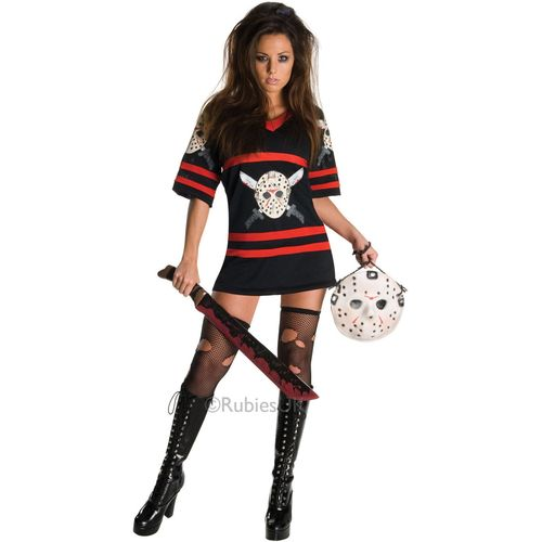 Miss Voorhees Jason Halloween Fancy Dress Costume Size 12-14