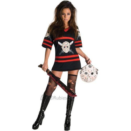 Miss Voorhees Jason Halloween Fancy Dress Costume Size 16-18