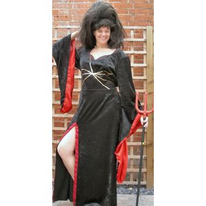 Black Devil Dress Ex Hire Sale Costume Size 14-16