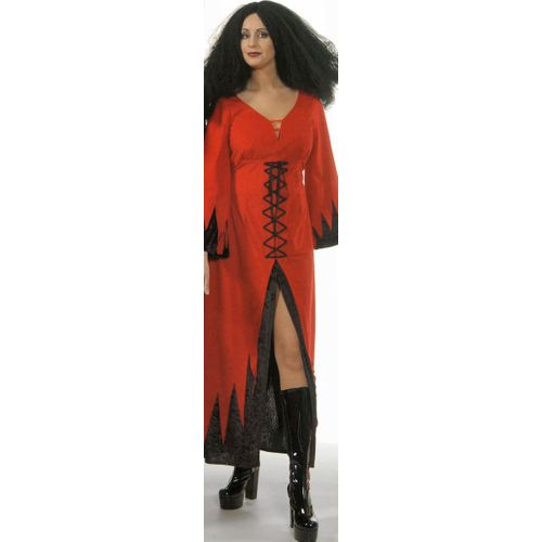 Red Devil Lady Dress Ex Hire Sale Halloween Fancy Dress Costume Size 12-14