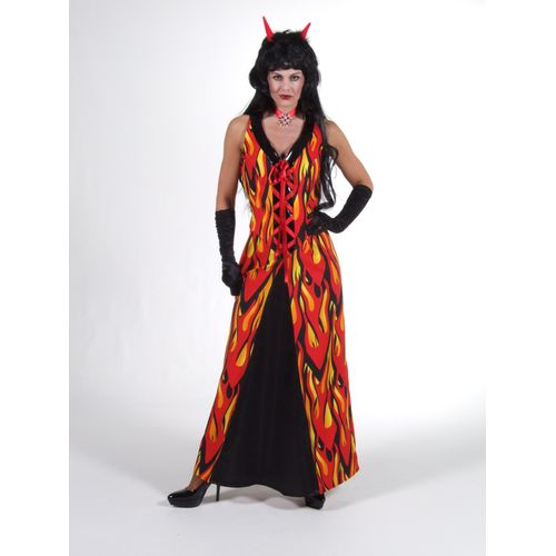 Mrs Lucifer Ex Hire Sale Costume Outfit Halloween Horror Fire
