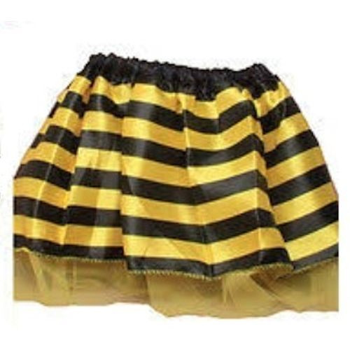 Childs Bumble Bee Yellow & Black Striped Tutu Fancy Dress Costume Accessory