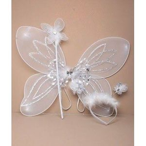 Childs Fairy Costume Accessory Set (White)
