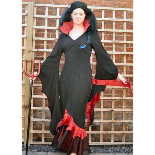 Devil Dress Ex Hire Sale Halloween Fancy Dress Costume Size 8-10