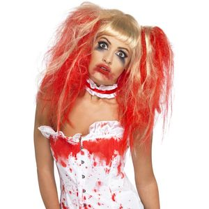 Blood Drip Wig (Blonde & Red)