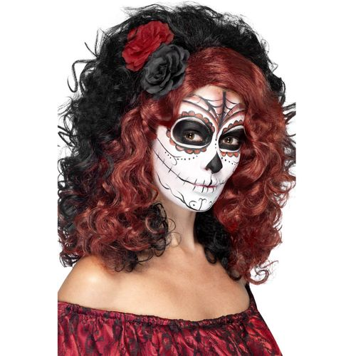 Day of the Dead Wig Halloween Fancy Dress Costume Accessory