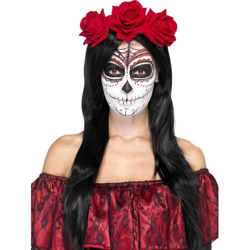 Day of the Dead Rose Headband Halloween Fancy Dress Costume Accessory