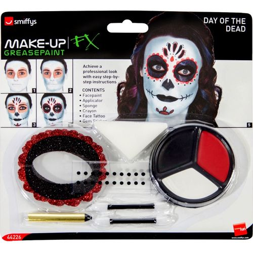 Day of the Dead Make Up Kit Halloween Fancy Dress Costume Accessory