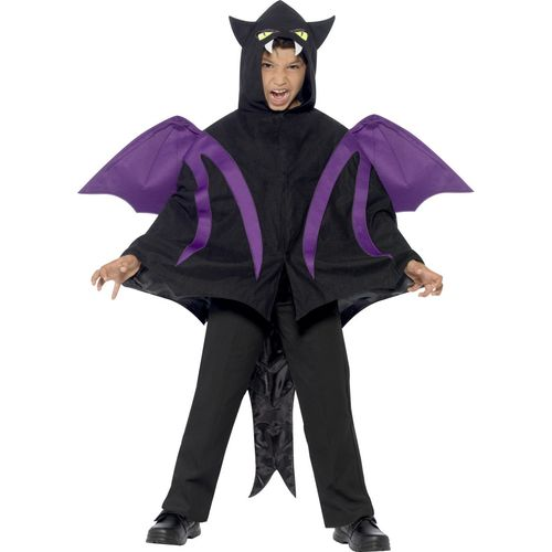 Childs Hooded Creature Cape Halloween Fancy Dress Costume Age 7-12 Years