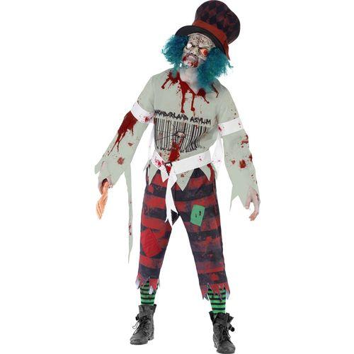Zombie Hatter Halloween Fancy Dress Costume Size Large
