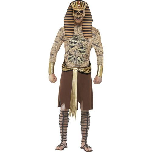 Zombie Pharaoh Fancy Dress Halloween Costume Size L