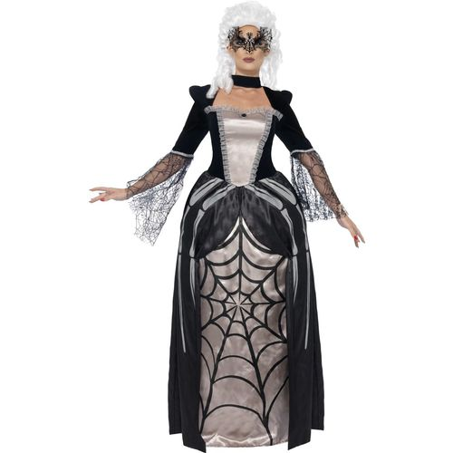 Black Widow Baroness Halloween Fancy Dress Costume Size 16-18