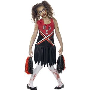 Zombie Cheerleader Costume (Red & Black) Teen Size 12