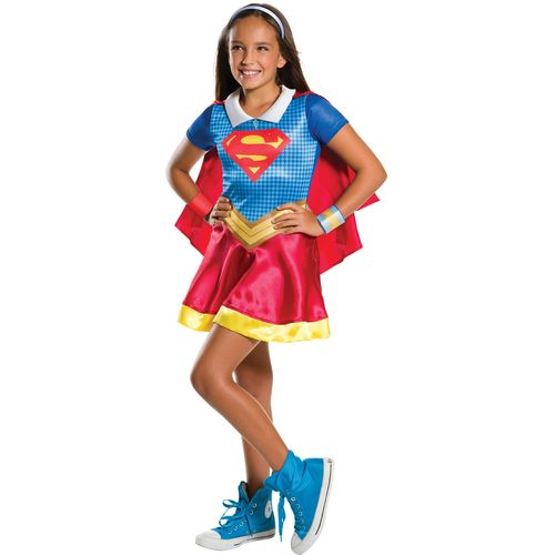 Childs Supergirl DC Superhero Fancy Dress Costume Age 3-4 Years