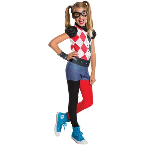 Childs Harley Quinn DC Superhero Fancy Dress Costume Age 3-4 Years