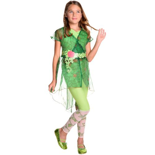 Childs Deluxe Poison Ivy DC Superhero Fancy Dress Costume Age 8-10 Years