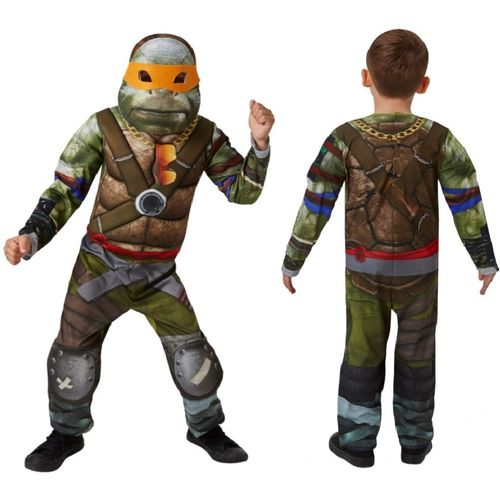 Childs TMNT Teenage Mutant Ninja Turtles Deluxe Movie Fancy Dress Costume Age 3-4 Years