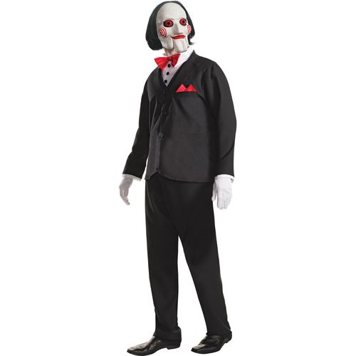 Official Saw Billy the Puppet Halloween Fancy Dress Costume Size XL
