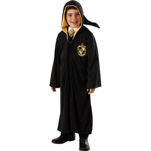 Childs Deluxe Harry Potter Hufflepuff Robe Fancy Dress Costume Age 5-7 Years