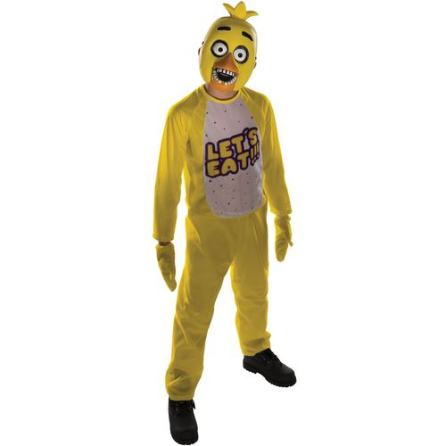 Childs Chica Five Nights At Freddys Halloween Fancy Dress Costume Age 8-10