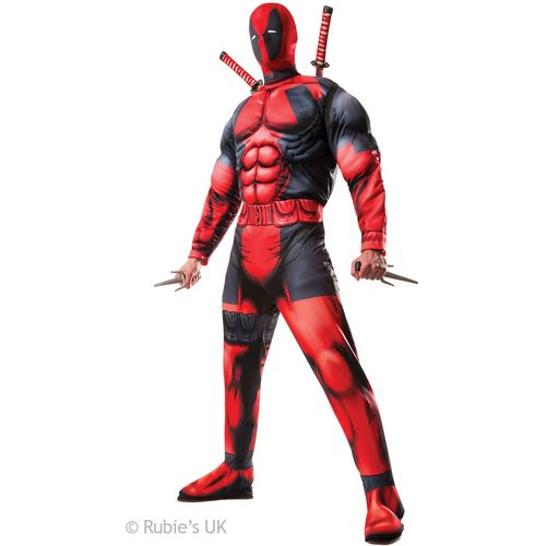 Deluxe Deadpool Official Licensed Marvel Fancy Dress Costume Size XL
