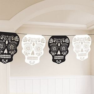 Day of the Dead Skull Garland Banner 3.65m
