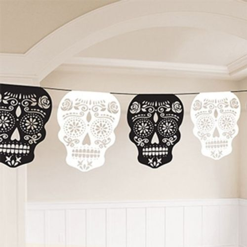 Day of the Dead Skull Garlands 3.65m Room Decoration Halloween Party Accessory