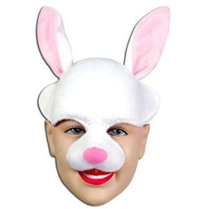 Bunny Half Face Animal Mask On Headband