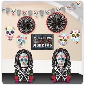 Day of the Dead 10 Piece Room Decorating Kit