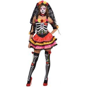 Day of the Dead Senorita Fancy Dress Size 14-16