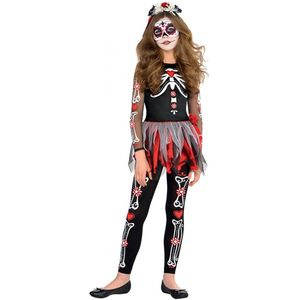 Girls Day of the Dead Costume Teen Size Age 12-14 Years
