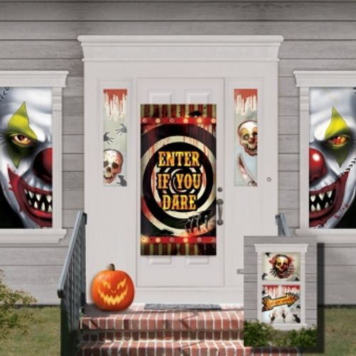 Creepy Carnival Scene Setter Decoration Kit Halloween Party Accessory