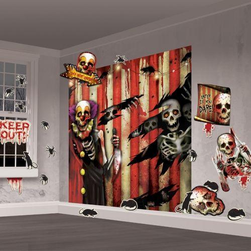 Creepy Carnival Wall Decoration Kit Halloween Party Room Decoration