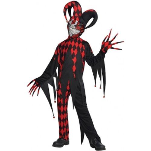 Krazed Jester Clown Fancy Dress Halloween Costume Teen Size Age 12-14 Years