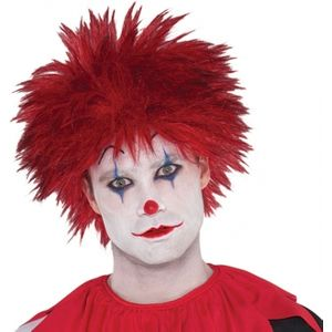 Evil Clown Spikey Wig (Red)