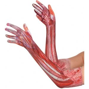 Sinister Surgery Bloody Arms Fancy Dress Gloves