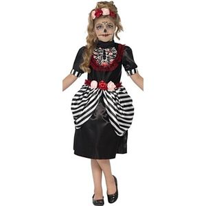 Childs Day of the Dead Sugar Skull Costume Age 7-9 Year