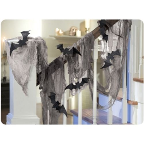 Bat Gauze Draping Kit Halloween Room Decoration Party Accessory