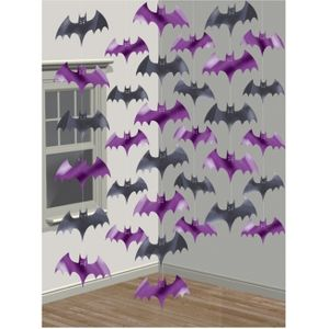 Bat Hanging String Decoration (Black & Purple)
