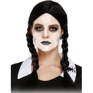 Scary Daughter Plaited Pig Tail Wig (Black)