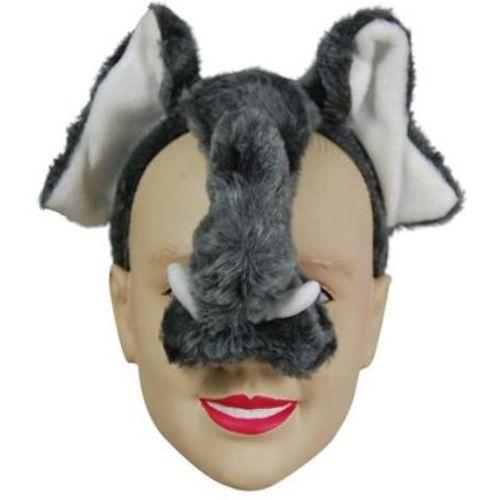 Fancy Dress Noisy Elephant Animal Mask On Headband