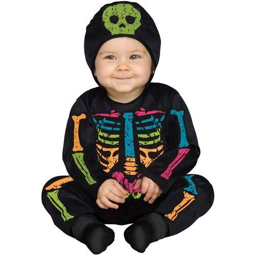 Skeleton Baby Bones Halloween Fancy Dress Costume Toddler Age 12-24 Months