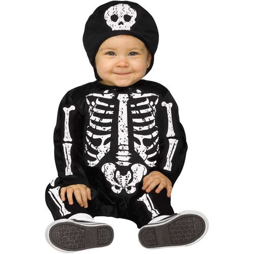 Skeleton Baby Bones Halloween Fancy Dress Costume Toddler Age 6-12 Months