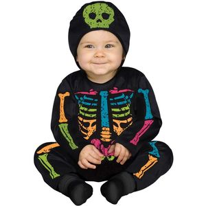 Skeleton Colour Baby Bones Costume Toddler 6-12 Months