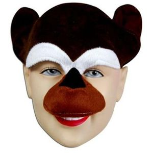 Chimp Half Face Animal Mask On Headband