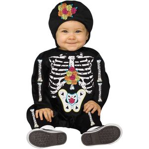 Day of the Dead Baby Bones Costume Toddler 6-12 Months
